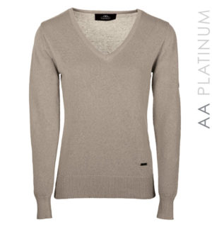 Lady Linen Light Weight Sweater Sandstone