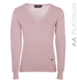 Lady Linen Light Weight Sweater Dusk Pink