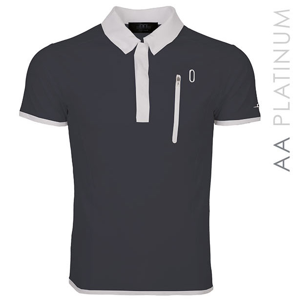 Men's Technical Poloshirt Dark Grey
