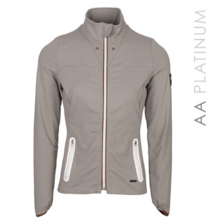 Lula Full Zip Top Taupe