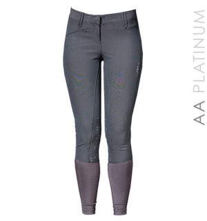 AA Ladies Silicon Breeches Knee Patch Charcoal