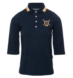 Mina ¾ Sleeve Polo Midnight Navy
