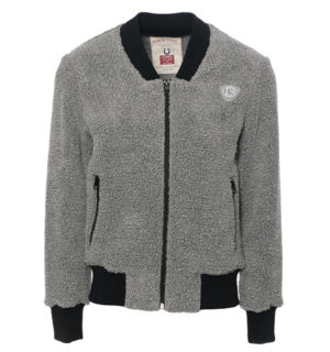 Fluffy Softie Blouson Grey Melange
