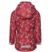Kids Horse Print Jacket Raspberry