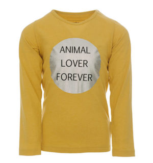 Girls Long Sleeve Top Flax Yellow
