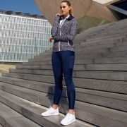 Technical Full Zip Top Animal Print - Ladies Collection