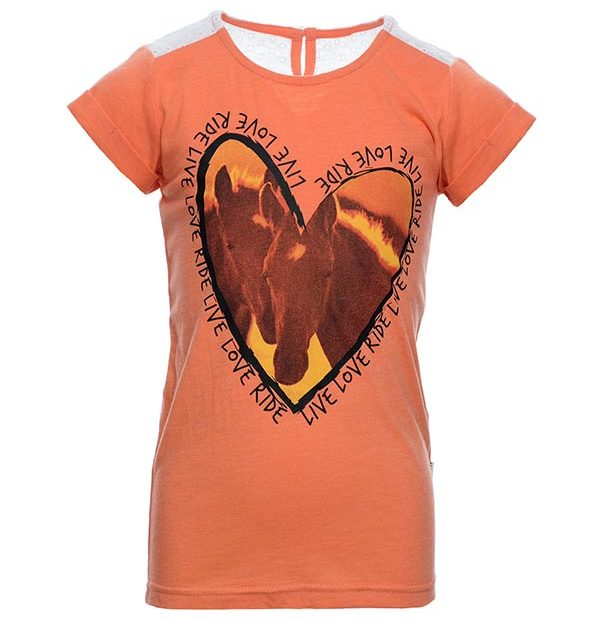 Girls Novelty Tee Coral