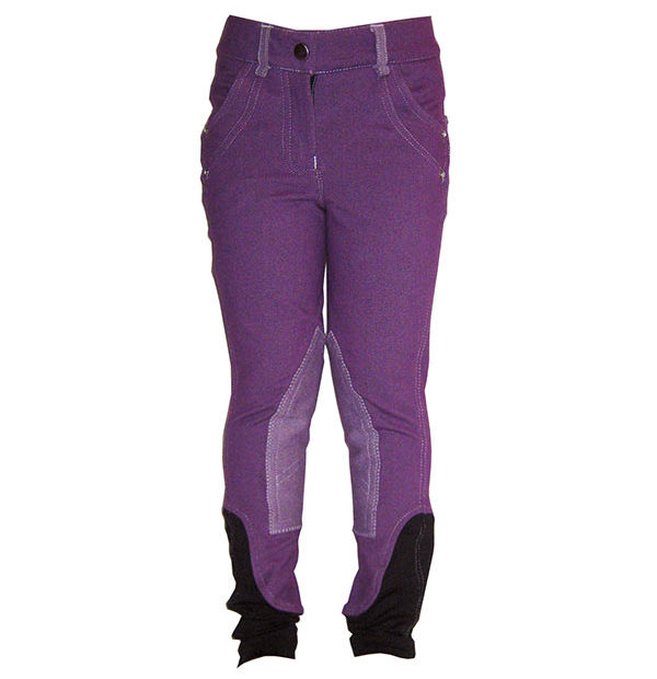 Kids Denim Breeches Purple