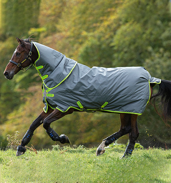 Horseware Amigo Hero 900 Lite Disc Couverture imperm/éable 0 g Gris//vert citron
