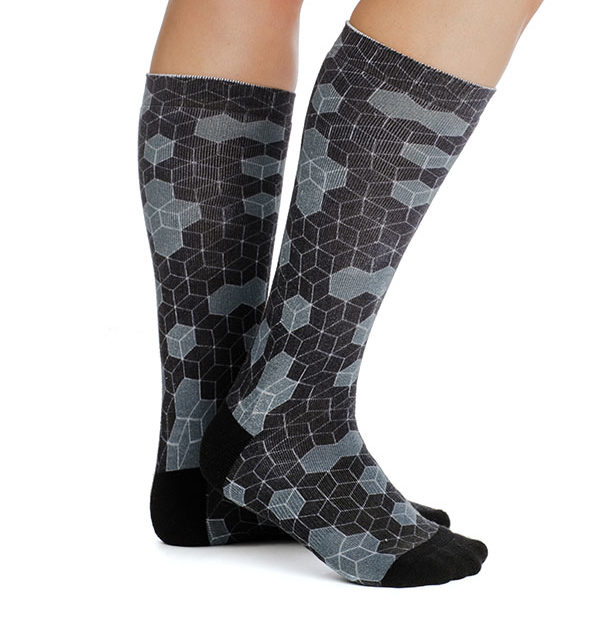 Winter Tech Socks Hexagon Print