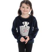 Kids Velvet Touch Crewneck