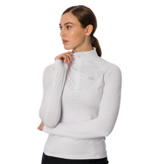 Aveen Technical Long Sleeve Top White