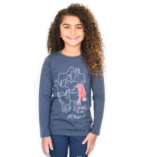 Girls Long Sleeve Top Navy