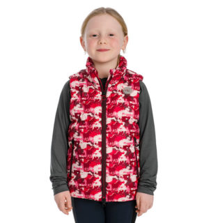 Kids Horse Print Quilted Gilet