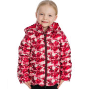 Kids Horse Print Quilted Jacket Front