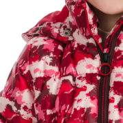 Kids Horse Print Quilted Jacket Zip Detail