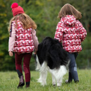 Kids Horse Print Quilted Jacket Back