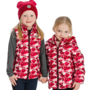Kids Horse Print Quilted Jacket