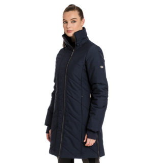 Longline Padded Coat Navy