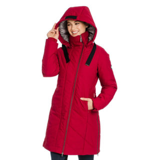 Longline Padded Coat Rio Red