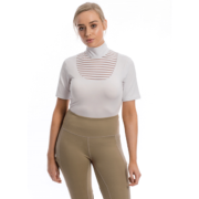 Lisa Technical Short Sleeve Competition Top - White