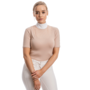 Lisa Technical Short Sleeve Competition Top - Blush