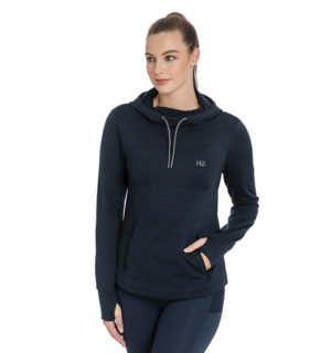 Technical Hooded Fleece Navy Melange