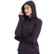 Technical Hooded Fleece Fig Melange
