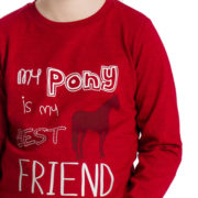 Girls Long Sleeve Top Red