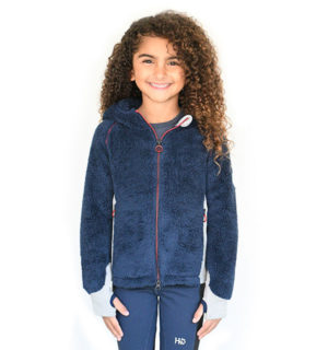 Kids Sherpa Hooded Navy