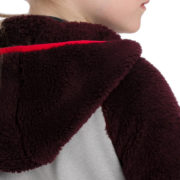 Kids Sherpa Hooded Fig Detail