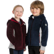 Kids Sherpa Hooded Fig & Navy