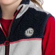 Kids Sherpa Gilet Red/Grey/Navy