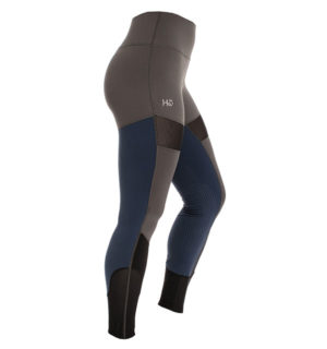 HW Fashion Riding Tights Silicon Grip Grey / Navy