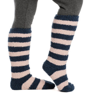 Softie Socks Misty Rose Stripe
