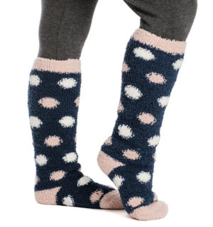 Softie Socks Navy Dot