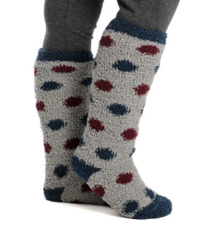 Softie Socks Grey Dot