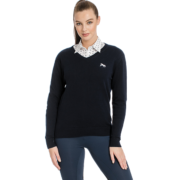 Signature Cotton Knit V-Neck Pullover