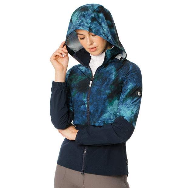 Carrie Riding Jacket Green/Navy Tie Dye