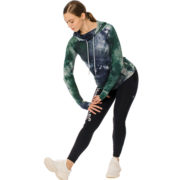 Technical Hooded Top Green/Navy Tie Dye
