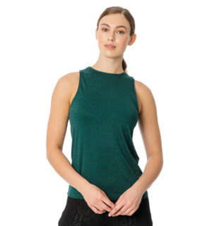 Training Tank Top Green Melange