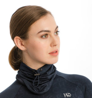 Navy Printed Technical Snood